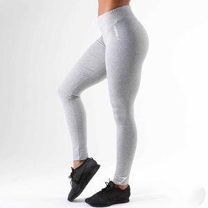 GYMSHARK Ark Jersey Leggings (S-light grey marl)